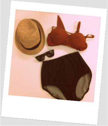 sanoii & six That's Swell underwire bikini top teamed with Dapper High Waisted Bikini bottoms