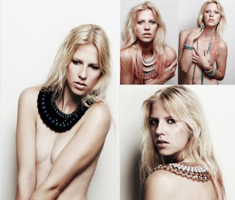 Anelie modelling 'Dahlia' pieces